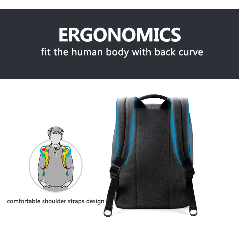 Anti Theft USB Charging Backpack with Laptop Compartment