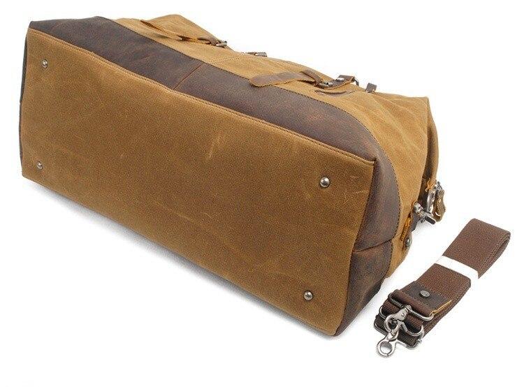 M013 Hot Waterdichte Canvas Lederen Mannen Reistassen Handbagage Tassen Mannen Plunjezakken Reizen Tote Grote Weekend Bag overnachting