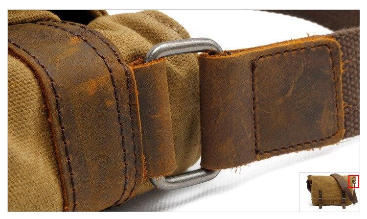 Hoge Kwaliteit Mannelijke Aktetassen Business Mannen Messenger Bags Canvas Crazy Horse Lederen Reizen Crossbody Tassen Mannen Schoudertassen B72