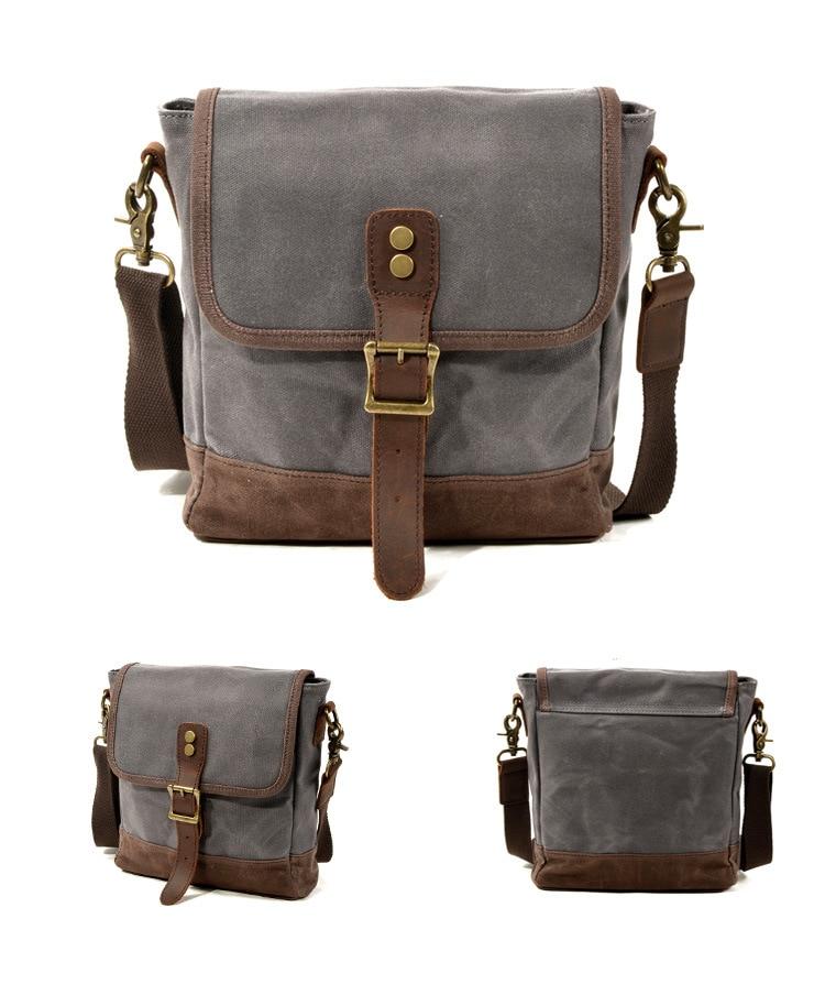 WOHENRED Mannen Canvas Schoudertas Casual Travel Crossbody Bag Hoge Kwaliteit Mannelijke Messenger Bags School Satchel Dagelijks Draagtas