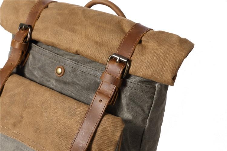 Mannen Casual Daypacks Vintage Canvas Rugzak School Jongens Designe Casual Mode Waterdichte Reistas Mannelijke Rugzak Bagpack