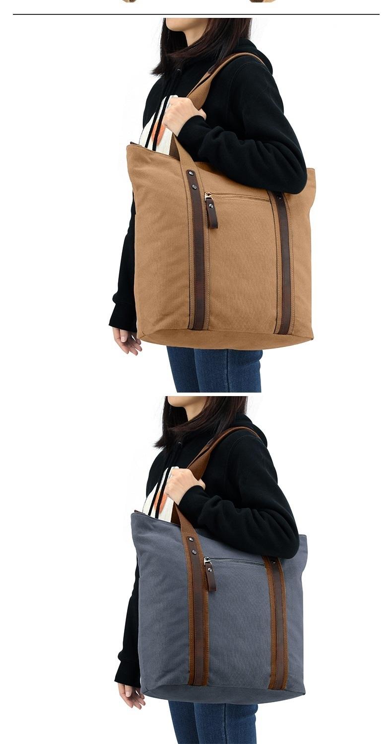 M353 Nieuwe Mode Europa En Amerika Nieuwe Mode Canvas vrouwen Tas Eenvoudige Leer Een Schouder Draagbare Tijd Tas Tote tassen