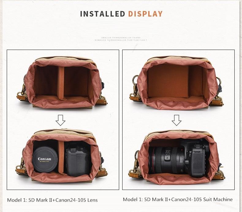 M375 Waterdichte Camera Tas Fotografie Pakketten A6000 A7R Schouder Sling Case Voor Sony Nikon Canon Canvas Mini Enkele Messenger