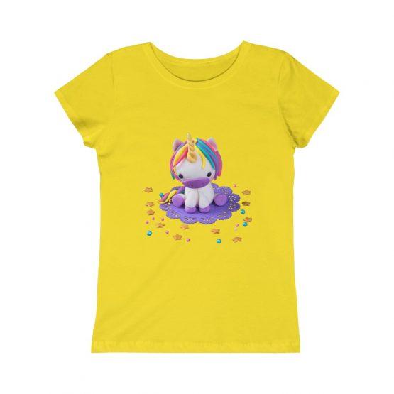 Girls Unicorn Rainbow T-Shirt Kids Tee