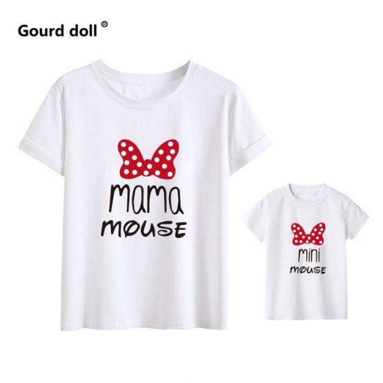 Mama Mouse Mini Mouse Moeder En Dochter T-shirt