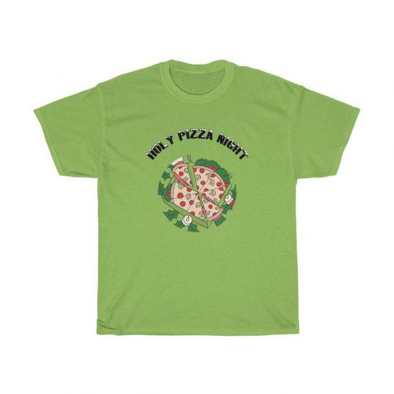 Holy Pizza Night Unisex Heavy Cotton Tee